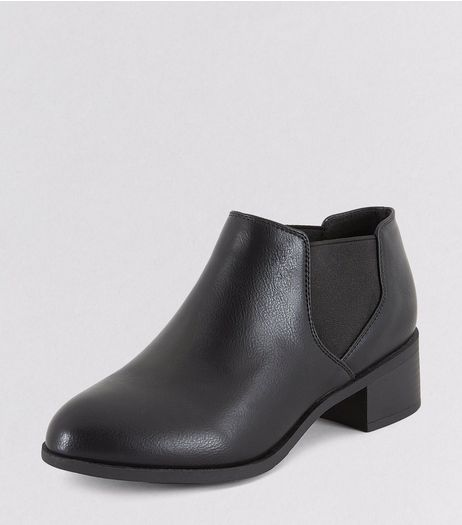 Teens Black Low Chelsea Boots | New Look