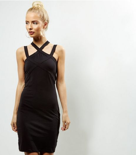 Noisy May Black Cross Strap Dress  | New Look
