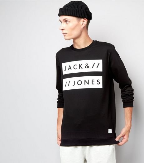 Jack & Jones Black Crew Neck Sweater | New Look