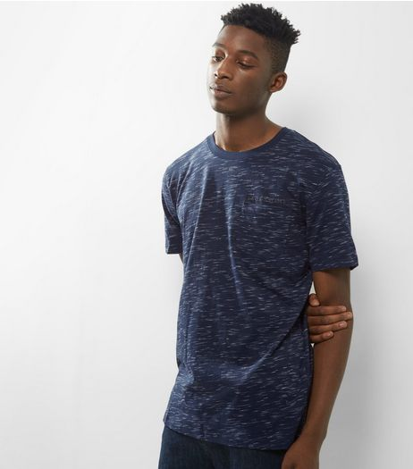 Jack & Jones Navy Marl T-Shirt | New Look