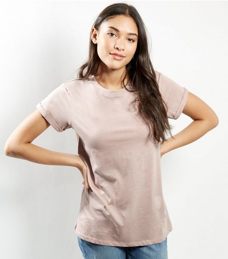 Petite Pink Boyfriend T-shirt | New Look