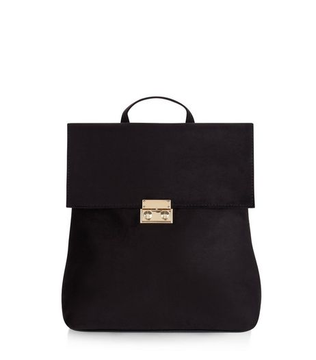 Black Suedette Mini Backpack | New Look