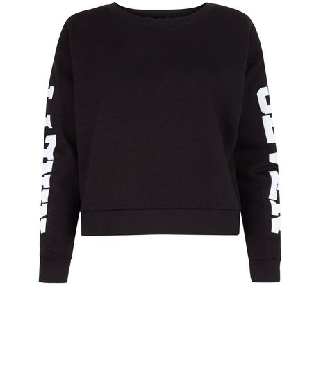 Teens Black 97 Print Sweater | New Look