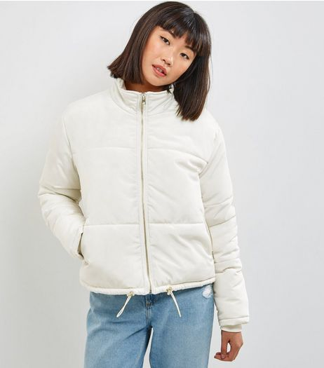 Cream Padded Puffer Jacket  | New Look