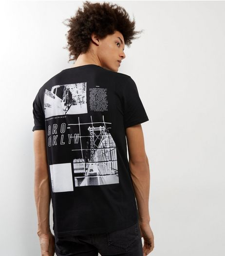 Black Brooklyn Graphic Print Back T-shirt | New Look