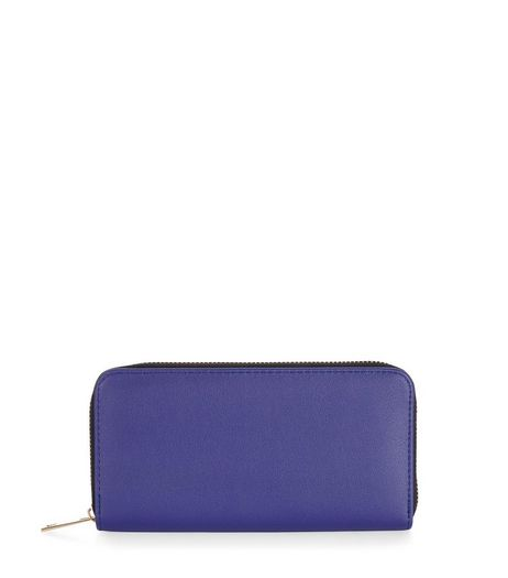 Blue Zip Around Purse | New Look