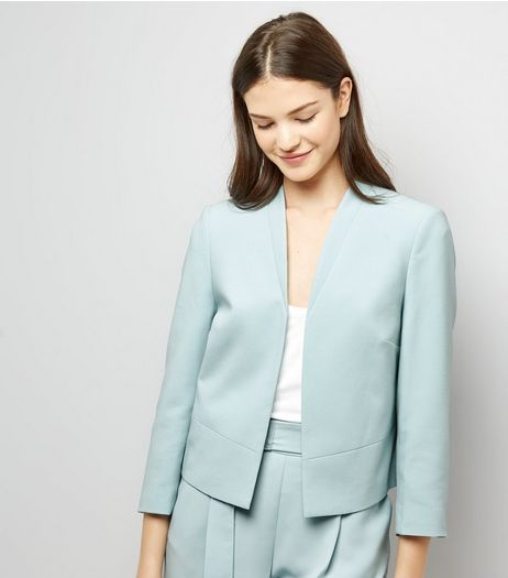 Mint Green Cropped Jacket | New Look