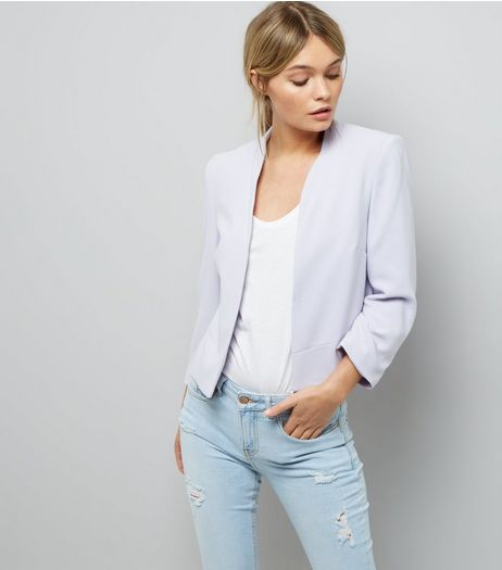 Lilac Cropped Jacket  | New Look