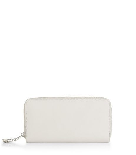 Grey Star Charm Zip Around Purse | New Look