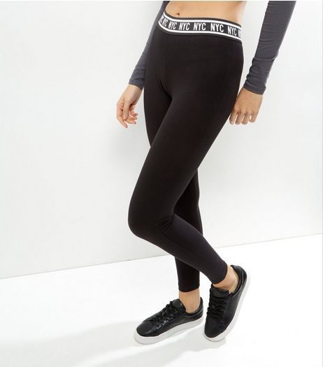 Black NYC Leggings | New Look