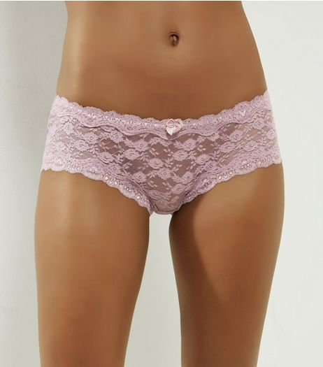 Light Purple Lace Briefs | New Look