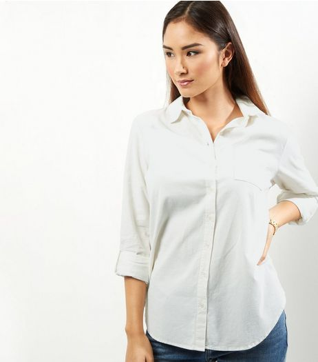 Apricot Cream Cord Shirt  | New Look