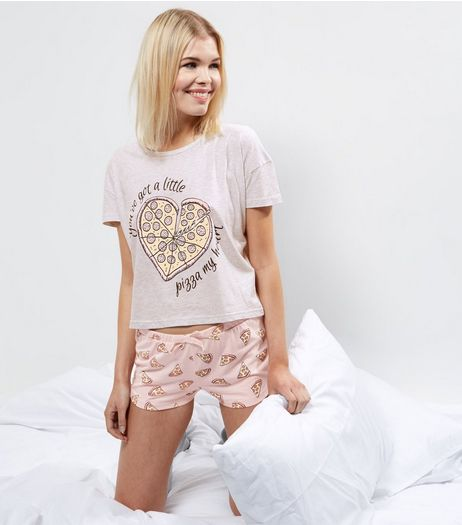 Pink Pizza My Heart Pyjama Set | New Look