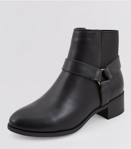 Teens Black Elasticated Back Ankle Boots | New Look