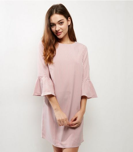 Pink Stripe Bell Sleeve Dress | New Look