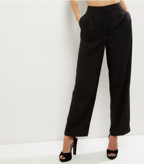 Black Wide Leg Trousers  | New Look