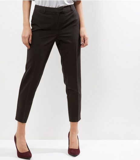 Black Slim Leg Trousers  | New Look