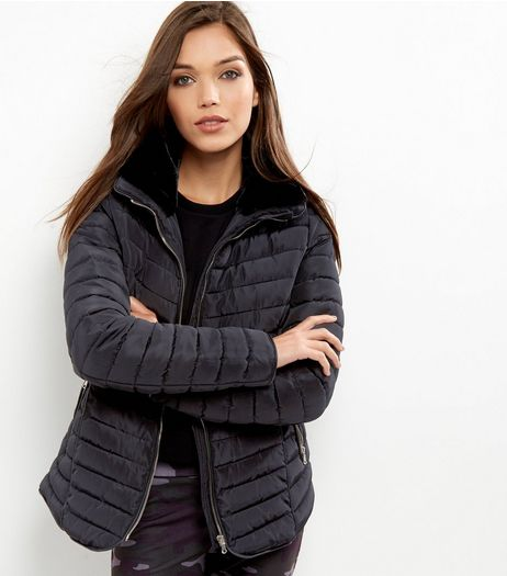 Black Padded Puffer Jacket | New Look