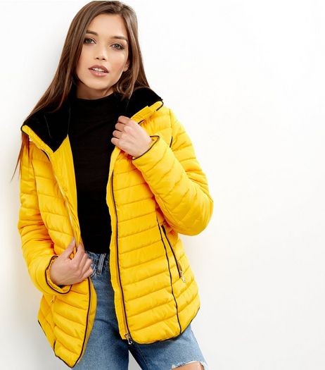 Yellow Padded Puffer Jacket | New Look