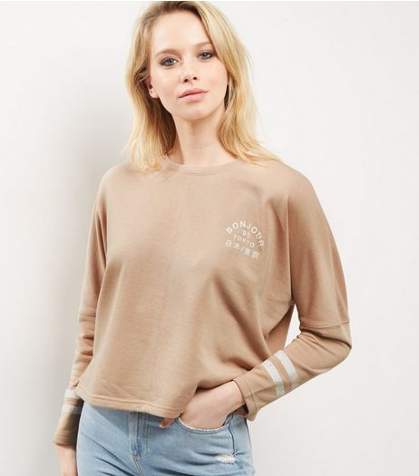 Light Brown Bonjour Tokyo Batwing Sweater | New Look