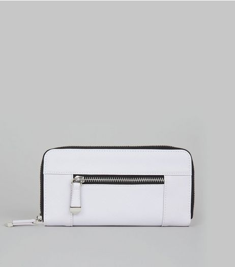 Lilac Contrast Zip Around Purse | New Look