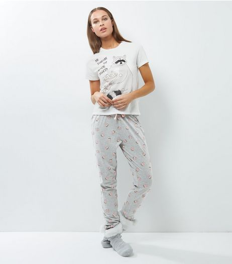 Petite White Movie Night Pyjama Set | New Look