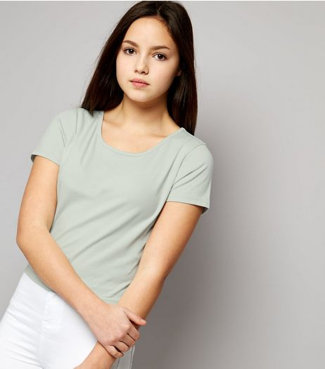 Teens Mint Green Cropped T-shirt | New Look