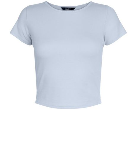 Teens Pale Blue Cropped T-shirt | New Look