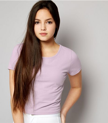 Teens Lilac Cropped T-shirt | New Look