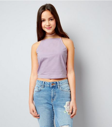 Teens Lilac High Neck Cami | New Look