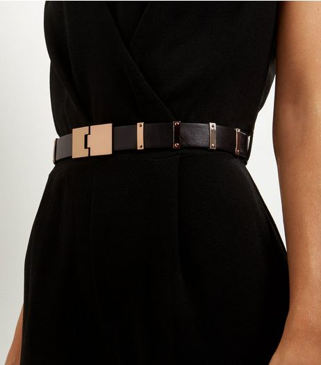 Black Clip Buckle Waist Belt | New Look