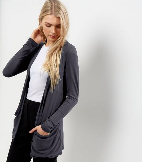 Dark Grey Boyfriend Cardigan | New Look