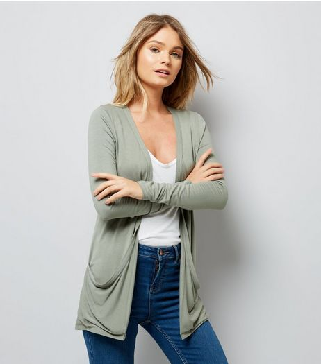 Olive Green Boyfriend Cardigan  | New Look