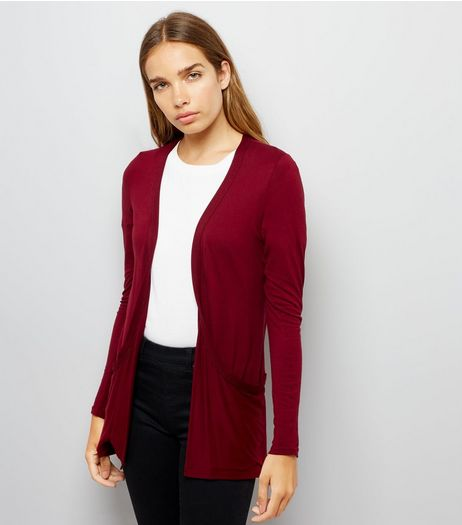Burgundy Boyfriend Cardigan | New Look
