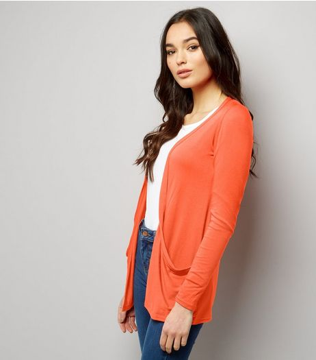 Orange Boyfriend Cardigan  | New Look