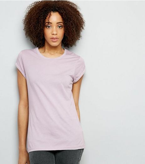 Tall Lilac Rolled Sleeve T-shirt | New Look