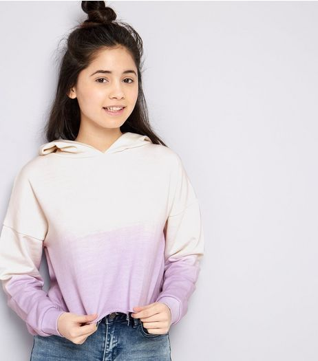 Teens Lilac Ombre Hoodie | New Look