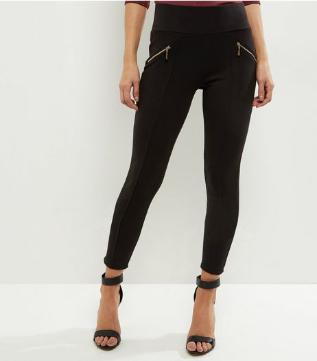 Black Zip Pocket Leggings | New Look