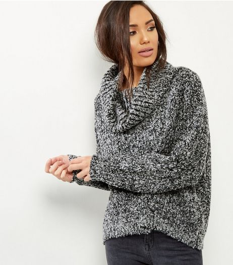 Blue Vanilla Black Turtle Neck Jumper  | New Look