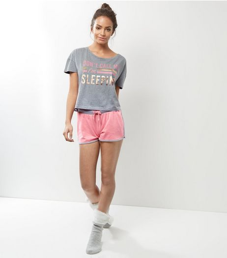 Pink Don't Call Me I'm Sleeping Pyjama Set | New Look
