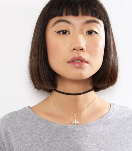 2 Pack Black Interchangable Charm Chokers | New Look