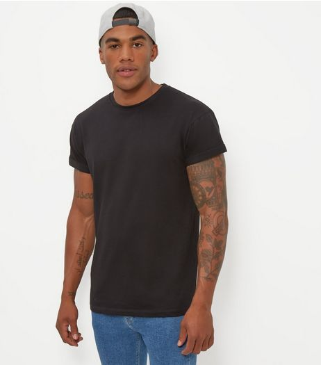 Black Cotton Crew Neck T-Shirt  | New Look