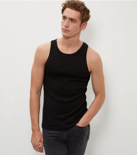 Black Cotton Basic Vest  | New Look