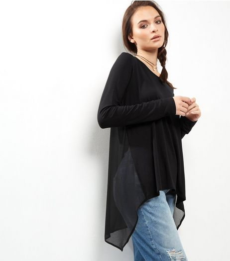 Apricot Black Split Back Top | New Look