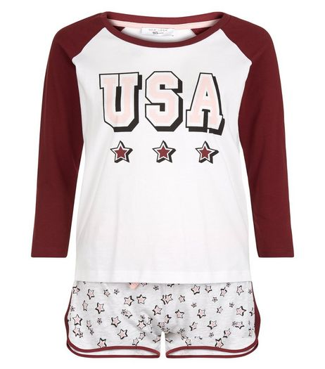Teens USA Stars Print Pyjama Set | New Look