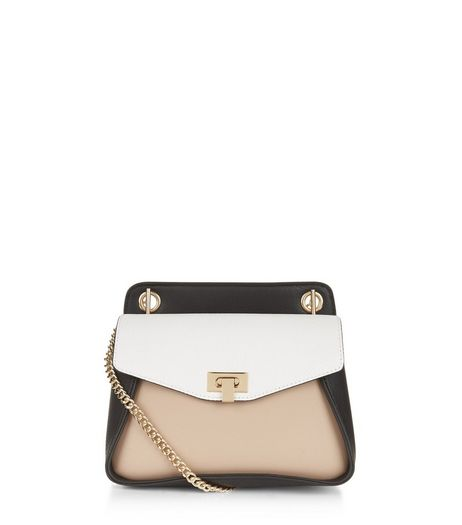 Black Colour Block Shoulder Bag | New Look