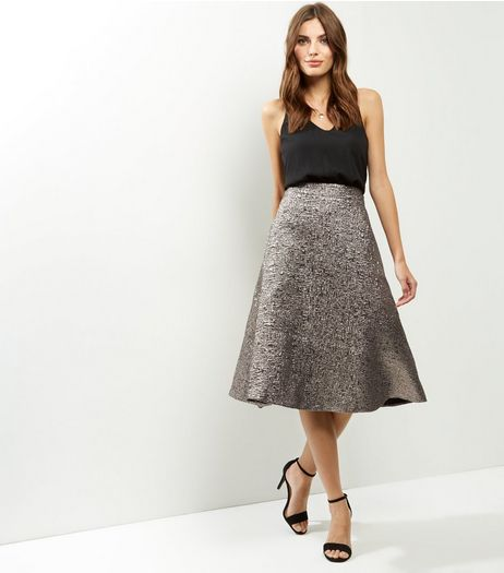AX Paris Black Metallic 2 in 1 Dress | New Look