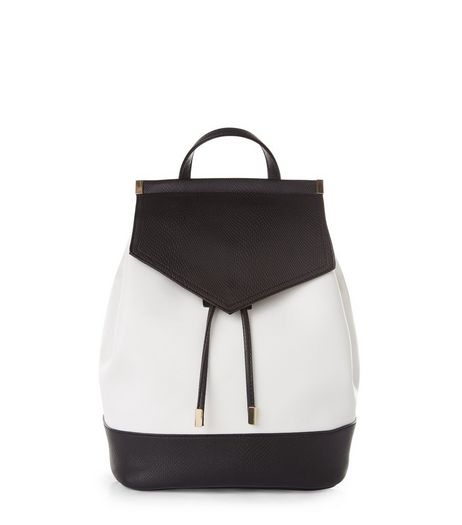 Black Contrast Panel Backpack | New Look