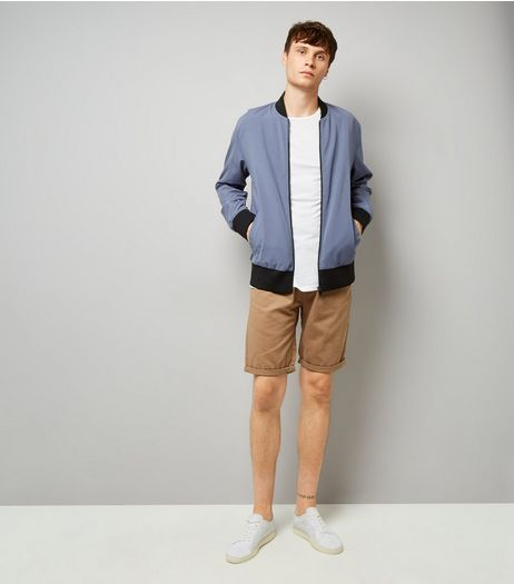 Camel Slim Leg Chino Shorts | New Look