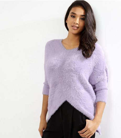 Blue Vanilla Lilac Split Front Jumper | New Look